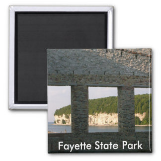 Fayette State Park 2 Inch Square Magnet