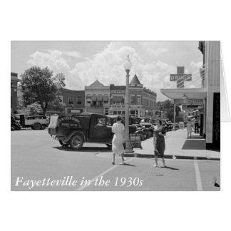 Fayetteville, Arkansas, 1930s Card