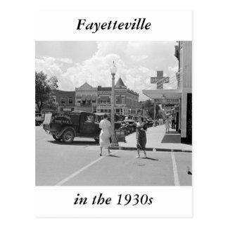 Fayetteville, Arkansas, los años 30 Postal