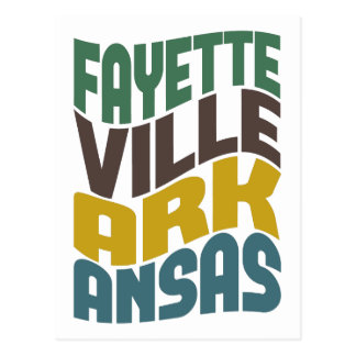 Fayetteville Arkansas Retro Wave Postcard
