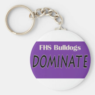 Fayetteville Bulldogs Dominate Basic Round Button Keychain
