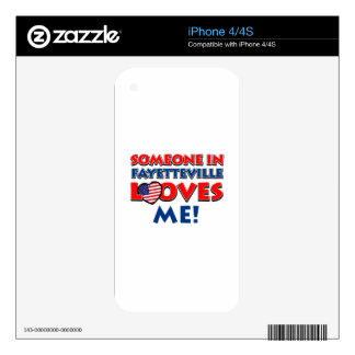Fayetteville City Designs Skin For The iPhone 4