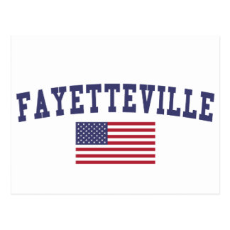 Fayetteville NC US Flag Postcard