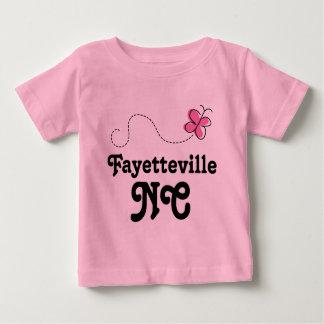 Fayetteville North Carolina Pink Butterfly Baby T-Shirt