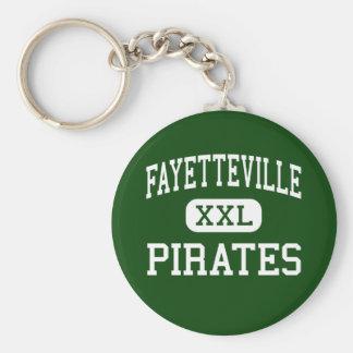 Fayetteville - piratas - alto - Fayetteville Llavero Redondo Tipo Pin