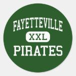 Fayetteville - Pirates - High - Fayetteville Classic Round Sticker