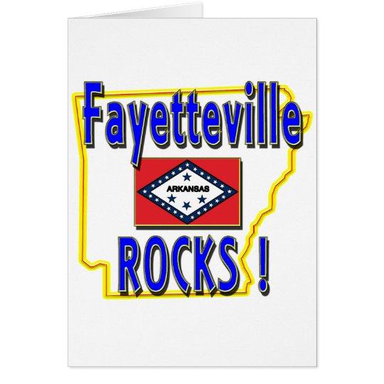 Fayetteville Rocks ! (blue) Card