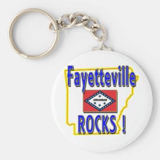 Fayetteville Rocks ! (blue) Keychain