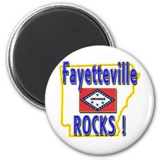 Fayetteville Rocks ! (blue) Magnet