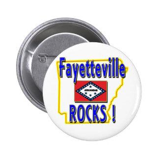 Fayetteville Rocks ! (blue) Pinback Button