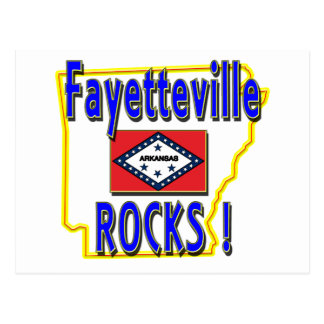 Fayetteville Rocks ! (blue) Postcard