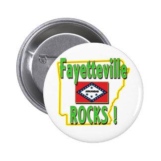 Fayetteville Rocks ! (green) Pinback Button