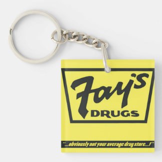 Fay's Drugs | the Immortal Yellow Bag Keychain