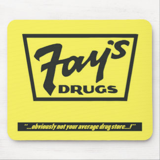 Fay's Drugs | the Immortal Yellow Bag Mouse Pad