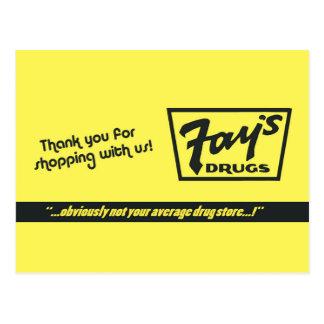 Fay's Drugs | the Immortal Yellow Bag Postcard