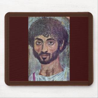 Fayum Mummy Portrait From By Römisch-Ägyptischer Mouse Pad