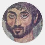 Fayum Mummy Portrait From By Römisch-Ägyptischer Round Sticker