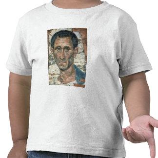 Fayum portrait of a man in a blue cloak, shirts