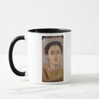 Fayum portrait of a woman mug