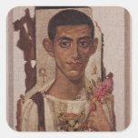 Fayum portrait of Ammonius, from Antinoe Square Sticker