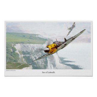 """FB 109"""" de Messerschmitt del poster del arte de la"""