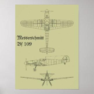 FB 109 de Messerschmitt Poster