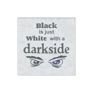 FB blanco del darkside Imán De Piedra