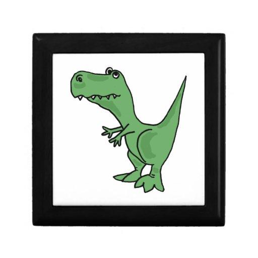 FB caja de regalo divertida del dinosaurio de T-re Joyero Cuadrado Pequeño