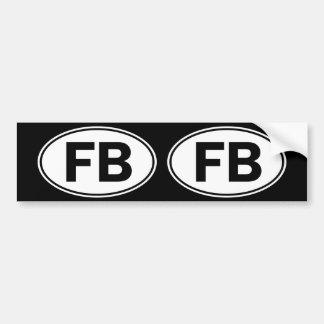 FB Oval Identity Sign Bumper Sticker