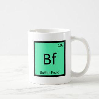 FB - Símbolo de la tabla periódica de la química d Taza De Café