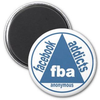 FBA:  Adictos a Facebook anónimos Imán Redondo 5 Cm