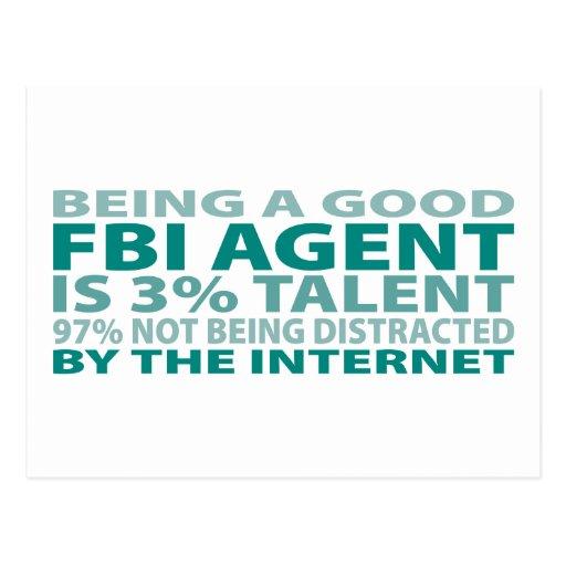 FBI Agent 3% Talent Postcard