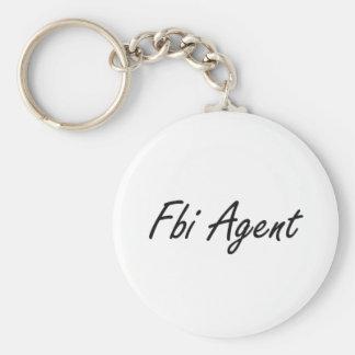 Fbi Agent Artistic Job Design Basic Round Button Keychain