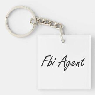Fbi Agent Artistic Job Design Single-Sided Square Acrylic Keychain