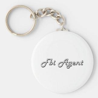 Fbi Agent Classic Job Design Basic Round Button Keychain