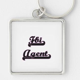 Fbi Agent Classic Job Design Silver-Colored Square Keychain