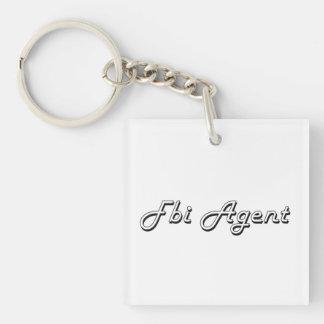 Fbi Agent Classic Job Design Single-Sided Square Acrylic Keychain
