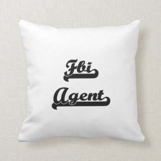 Fbi Agent Classic Job Design Throw Pillow