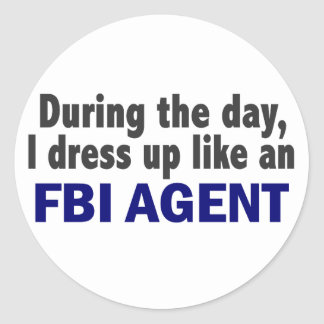 FBI Agent During The Day Classic Round Sticker