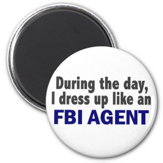 FBI Agent During The Day 2 Inch Round Magnet