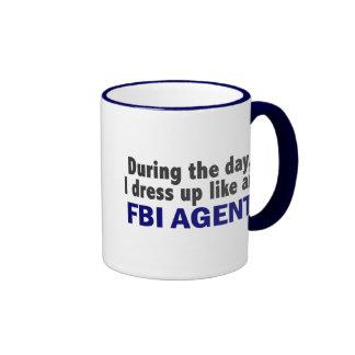 FBI Agent During The Day Ringer Coffee Mug