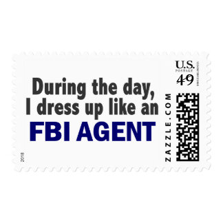FBI Agent During The Day Postage Stamps