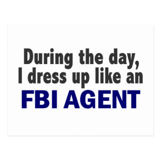 FBI Agent During The Day Postcard