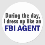 FBI Agent During The Day Stickers