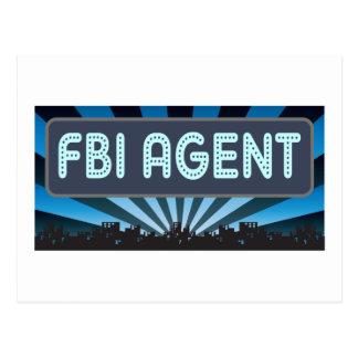 FBI Agent Marquee Postcard