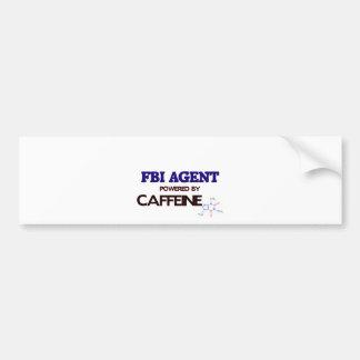 Fbi Agent Powered by caffeine Car Bumper Sticker