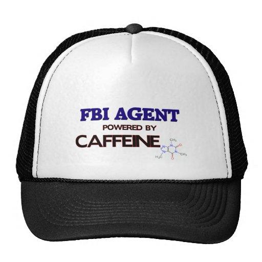 Fbi Agent Powered by caffeine Trucker Hat