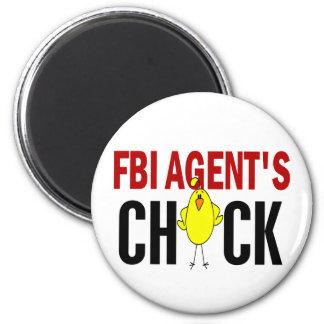 FBI Agent's Chick 2 Inch Round Magnet