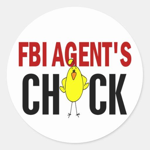 FBI Agent's Chick Classic Round Sticker
