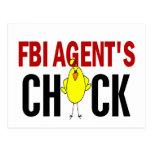 FBI Agent's Chick Postcard